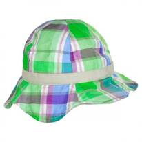 Baby Plaid Cotton Bucket Hat