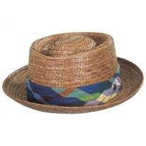 Madrigal Coconut Straw Pork Pie Hat