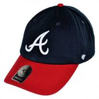 Atlanta Braves MLB Clean Up Strapback Baseball Cap Dad Hat
