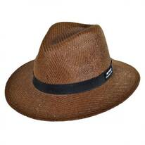 Ribbon Toyo Straw Safari Fedora Hat