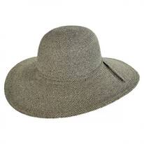 Tweed Toyo Straw Floppy Sun Hat