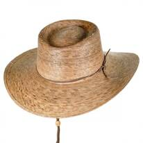 Outback Palm Straw Hat with Chincord