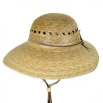 Laurel Lattice Palm Straw Facesaver Hat
