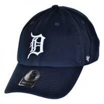 Detroit Tigers MLB Clean Up Strapback Baseball Cap Dad Hat