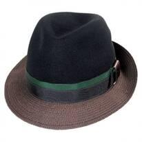 Eclipse Wool Felt Crown Fedora Hat