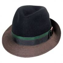 Eclipse Wool Felt Crown Fedora Hat