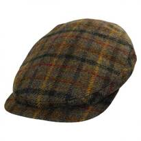 Plaid Harris Tweed Wool Ivy Cap