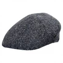 Herringbone Donegal Tweed Wool Duckbill Ivy Cap