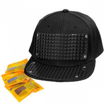 Bricky Blocks Snapback Baseball Cap INCLUDING Bricks