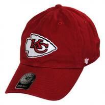 Kansas City Chiefs NFL Clean Up Strapback Baseball Cap Dad Hat