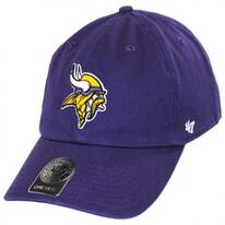 Minnesota Vikings NFL Clean Up Strapback Baseball Cap Dad Hat