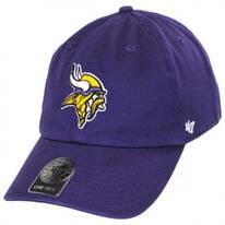 Minnesota Vikings NFL Clean Up Strapback Baseball Cap Dad Hat