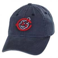 Cleveland Indians MLB Raglan Strapback Baseball Cap Dad Hat
