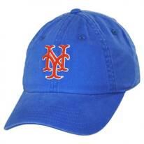 New York Mets MLB Raglan Strapback Baseball Cap Dad Hat