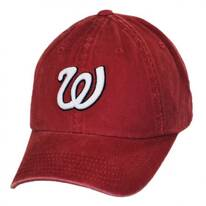 Washington Senators MLB Raglan Strapback Baseball Cap Dad Hat