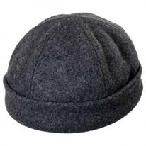 Six Panel Wool Skull Cap Beanie Hat