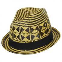Na-Pali Toyo Straw Stingy Brim Fedora Hat