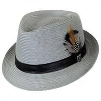 Polybraid Straw C-Crown Fedora Hat