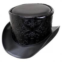Royale Leather Topper Hat