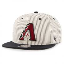 Arizona Diamondbacks MLB Woodside Stripe Snapback Baseball Cap