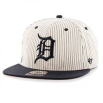 Detroit Tigers MLB Woodside Stripe Snapback Baseball Cap