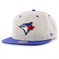 Toronto Blue Jays MLB Woodside Stripe Snapback Baseball Cap