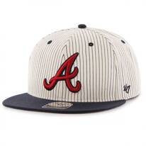 Atlanta Braves MLB Woodside Stripe Snapback Baseball Cap