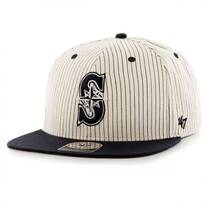 Seattle Mariners MLB Woodside Stripe Snapback Baseball Cap