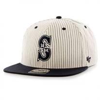Seattle Mariners MLB Woodside Stripe Snapback Baseball Cap