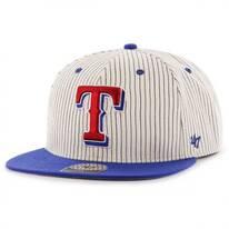 Texas Rangers MLB Woodside Stripe Snapback Baseball Cap