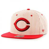 Cincinnati Reds MLB Woodside Stripe Snapback Baseball Cap