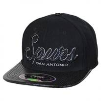 San Antonio Spurs Script NBA Perforated Leather Bill Baseball Cap