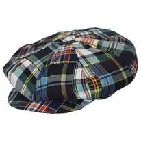 Madras Patchwork Cotton Big Apple Cap