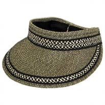 Tweed/Check Toyo Straw Rollable Visor
