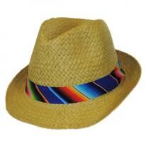 Kid's Zarape Toyo Straw Fedora Hat