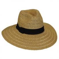 Tejer Toyo Straw Wide Brim Fedora Hat