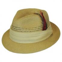Kid's Vent Straw Trilby Fedora Hat