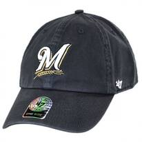 Milwaukee Brewers MLB Clean Up Strapback Baseball Cap Dad Hat