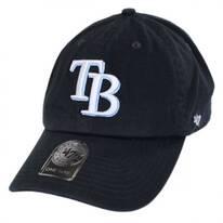 Tampa Bay Rays MLB Clean Up Strapback Baseball Cap Dad Hat