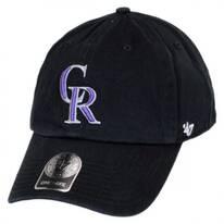 Colorado Rockies MLB Clean Up Strapback Baseball Cap Dad Hat