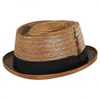 Be Bop Coconut Straw Pork Pie Hat