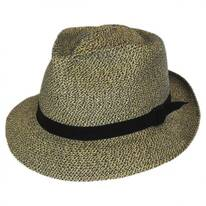 Slouch Braided Fabric Fedora Hat