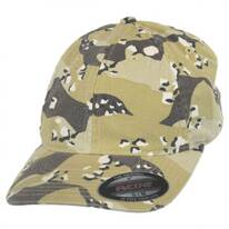 Camo Garment Washed Twill LoPro FlexFit Fitted Baseball Cap