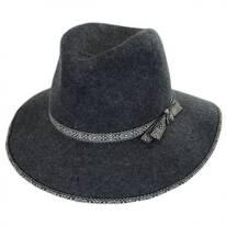 Tribal Trim Wool Felt Fedora Hat