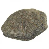Plaid Harris Tweed Wool Newsboy Cap