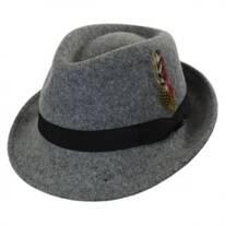 Detroit Wool Felt Trilby Fedora Hat - Flannel