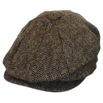 Heathclif Herringbone Wool Newsboy Cap