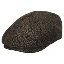 Devon Herringbone Wool Newsboy
