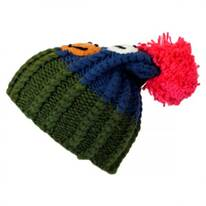 Kids' Smiley Pom Knit Beanie Hat