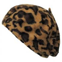 Cheetah Print Angora Beret